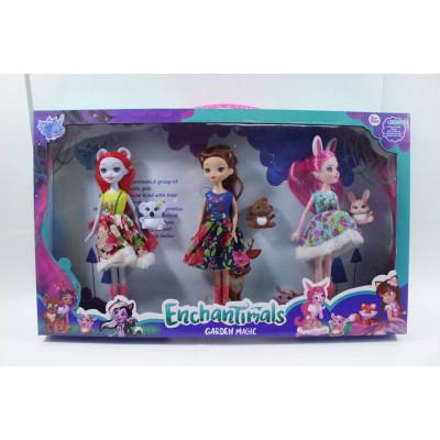 """Набор """"Enchantimals""""""""3 куклы+3 животных"""""""
