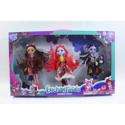 """Набор кукол """"Enchantimals"""" c животными"""