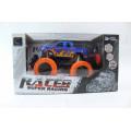 """Машина на п/у """"Super Racing"""" синяя с оранжевыми колёсами"""