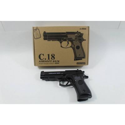 (2M)Пистолет металлический  С18