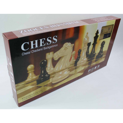 "Деревянные шахматы 3 в 1 ""Chess"" большие"