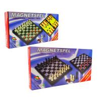 (М) Шахматы магнитные 3в1