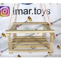 (М)Качели детские подвесные, деревянные