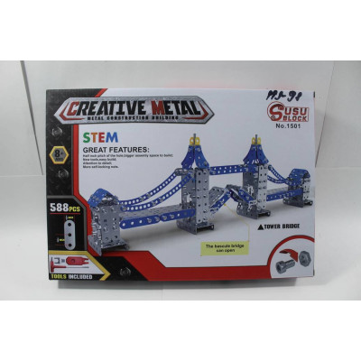 """Металлический конструктор """"Crreative metal""""""""Разводной мост"""" (588 д.)"""