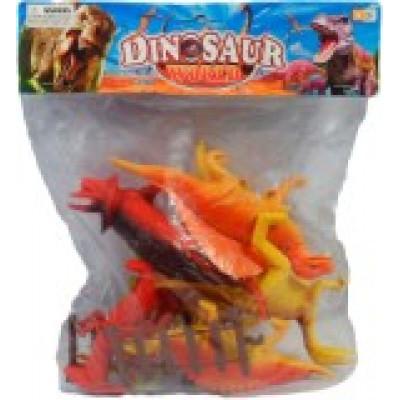 (М) Набор динозавров (в пакете, 6 шт.)