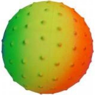 """(М)Мяч """"Радуга"""" рез массажный 16 см."""