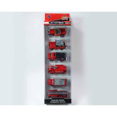 Пожарные машинки по 6 шт в коробке