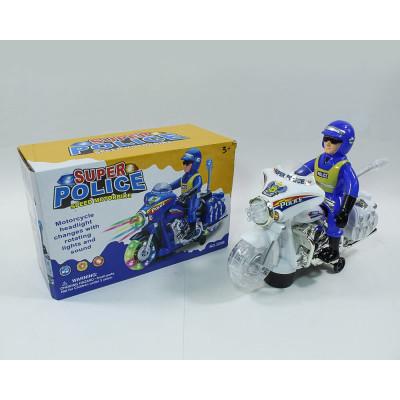 Полицейский на мотоцикле музыкальный