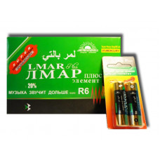 "(М) Батарейки ""LMAR"" ""Зелёные"" на блистере R6 (48 шт. в уп.)"