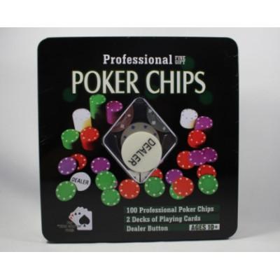 Покер в желез коробке маленький