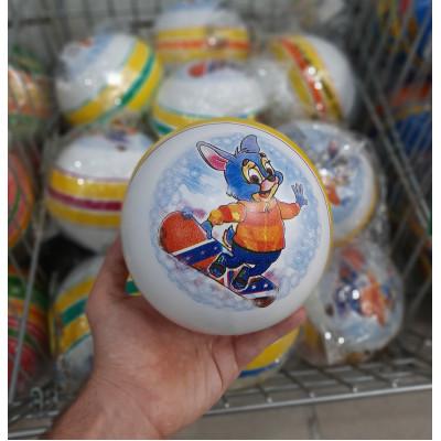 (М)Мяч рез ассорти 150мм