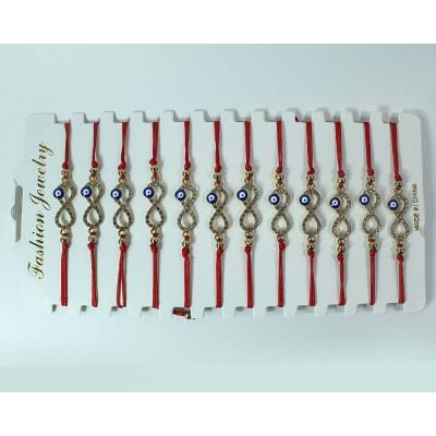 (2М)Браслет с красной верёвочкой