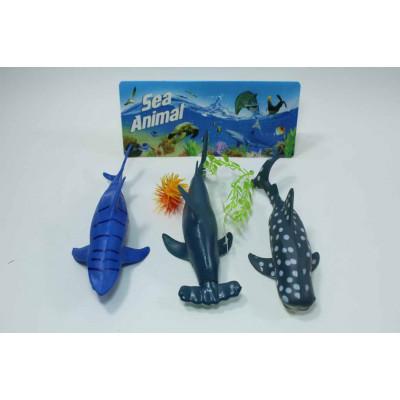 Набор из 3 акул в пакете