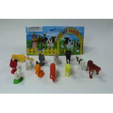 Набор из 12 животных в пакете