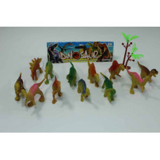 Набор из 12 динозавров + дерево в пакете